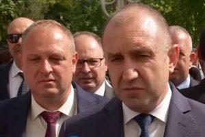 Президентът Румен Радев и кметовете на Първомай Николай Митков и на Садово Димитър Здравков