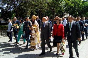 Официалните лица на шествието на 24 май в Пловдив, снимка: ПловдивПрес