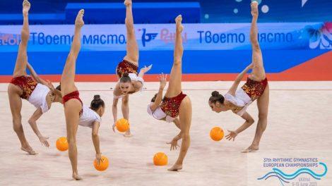 Съчетанието с 5 топки беше оценено със златен медал.