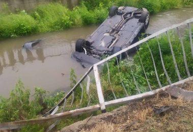 Колата беше извадена с кран.