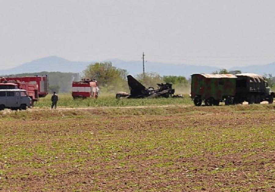 Разбитият МиГ-29 между Голям Чардак и Царимир през 20212 година.