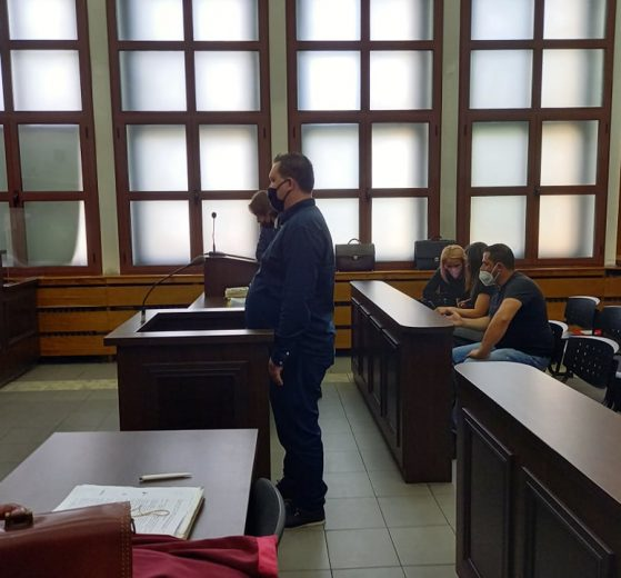 Владимир Гебелов в съдебната зала.