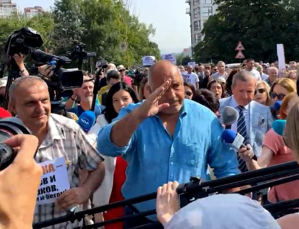 Борисов преди разпита в МВР.