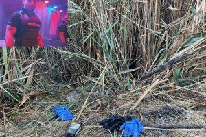 Мястото в тресавището, където са открити торбите с останките на младия Юмер. Кадър: Флагман