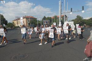 Протестът на ресторантьори в Пловдив през август.