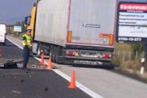 """Шофьор на тир загина при тежка катастрофа на магистрала """"Тракия"""" край Пазарджик"""