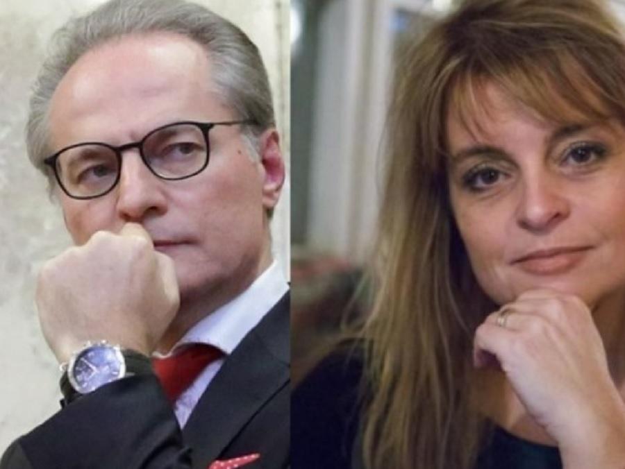 Лозан Панов и подгласничката му Касимова-Моасе
